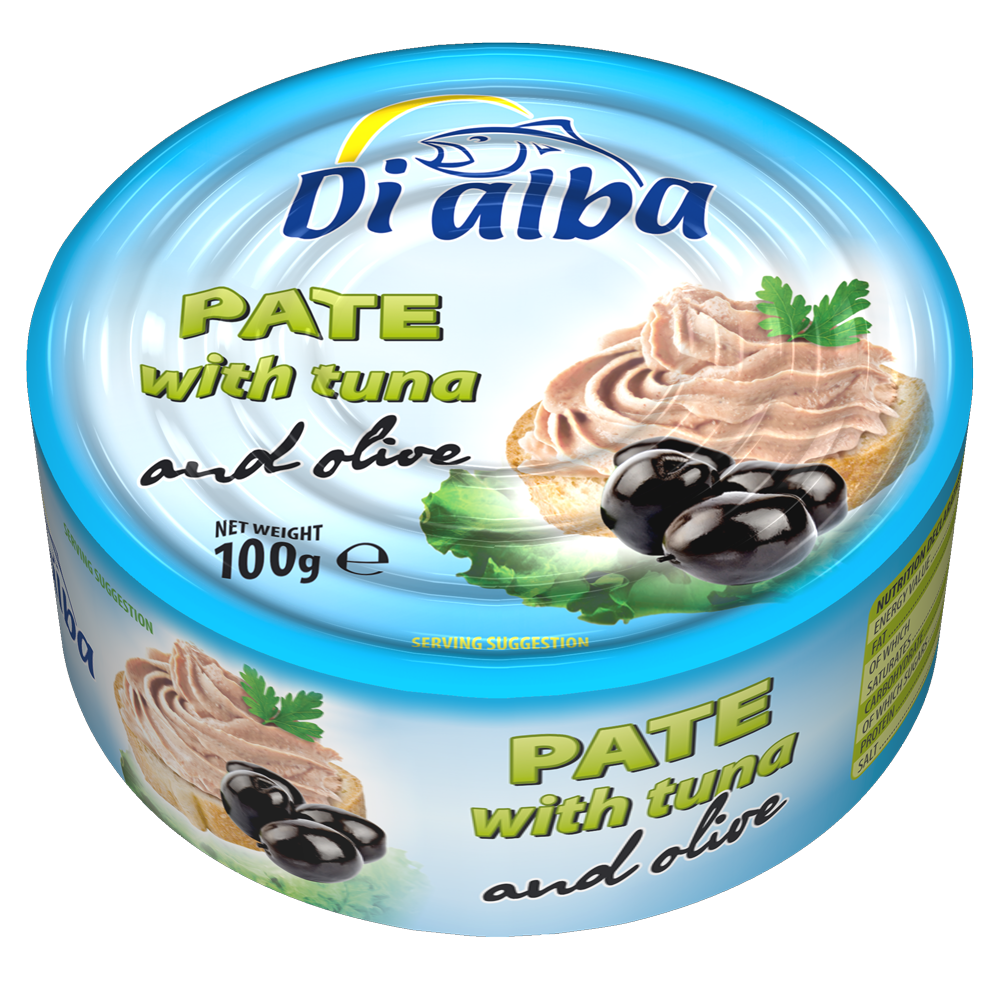 Pate with tuna and olive 100g.