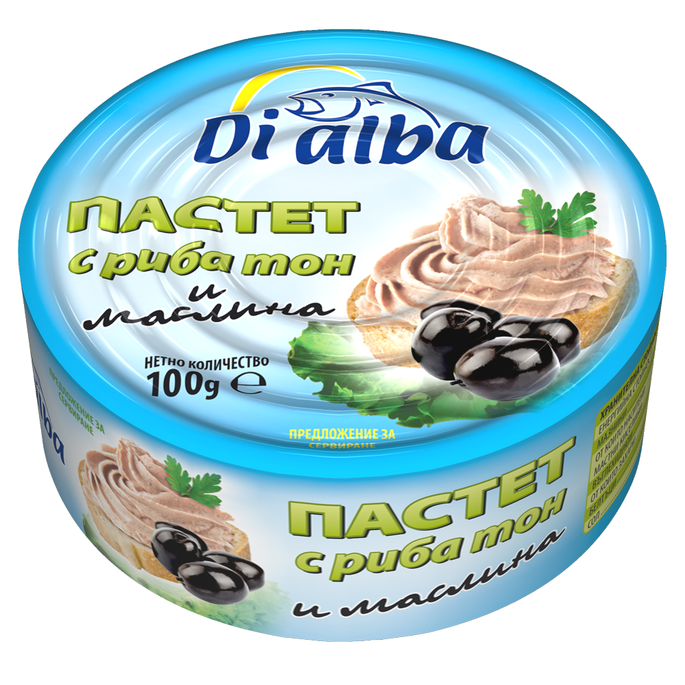 Пастет с риба тон и маслина 100гр.