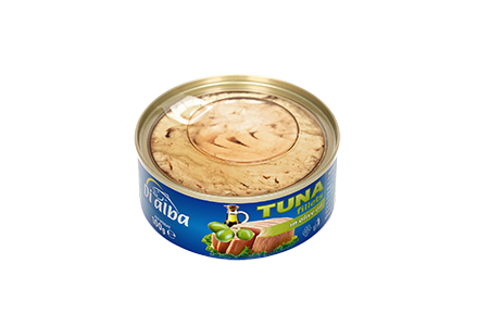 Tuna fillets with olive oil 100g.
