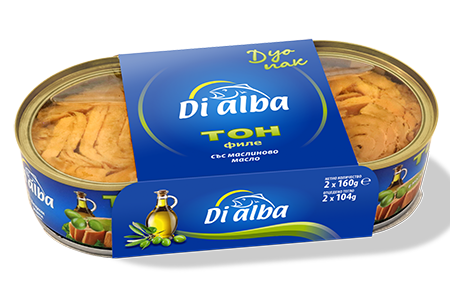 Риба тон филе с маслиново масло Дуопак 2х160гр.