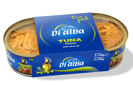 Tuna fillets with olive oil Duopack 2х160g.