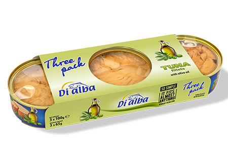 Tuna fillets with olive oil Three pack 3х100g.