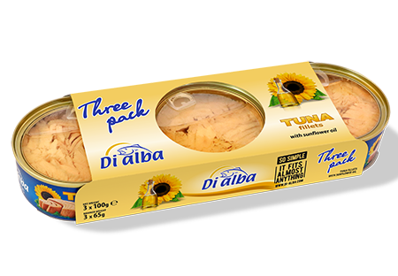 Tuna fillets with sunflower oil Three pack 3х100g.