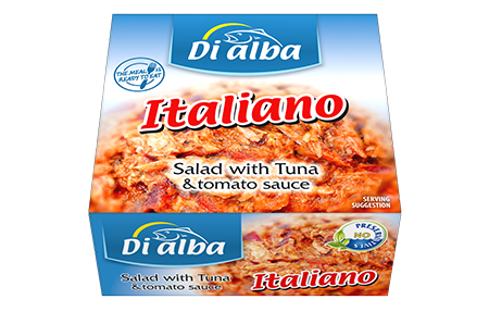 Salad with tuna & tomato sauce Italiano 160g.