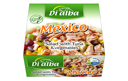 Salad with tuna & vegetables Mexico 160g.